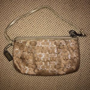 Coach Metallic Wristlet